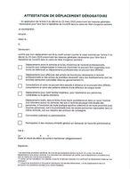 2020 03 24 Cofid19 Attestation dérogatoire