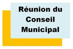 Réunion de conseil municipal