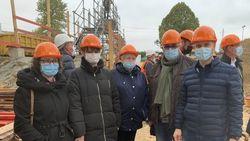 2020 09 28 Visite chantier collège Membres du syndicat du gymnase du collège 2